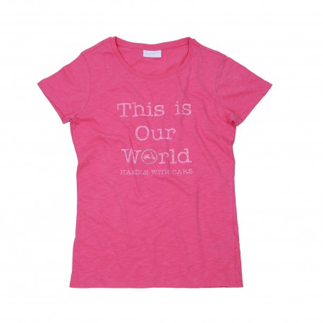 "T-SHIRT DONNA ROSA ""THIS IS OUR WOLRD"""